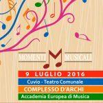 9 luglio, Concerto del Complesso d'Archi dell'Accademia a Cuvio