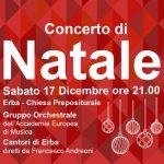 Concerto di Natale – Sabato 17 Dicembre ore 21.00 Erba – Chiesa Prepositurale