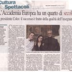 25° anniversario di fondazione dell'Accademia Europea di Musica