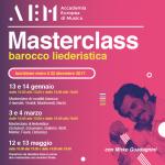 Mirko Guadagnini. Masterclass barocco liederistica.
